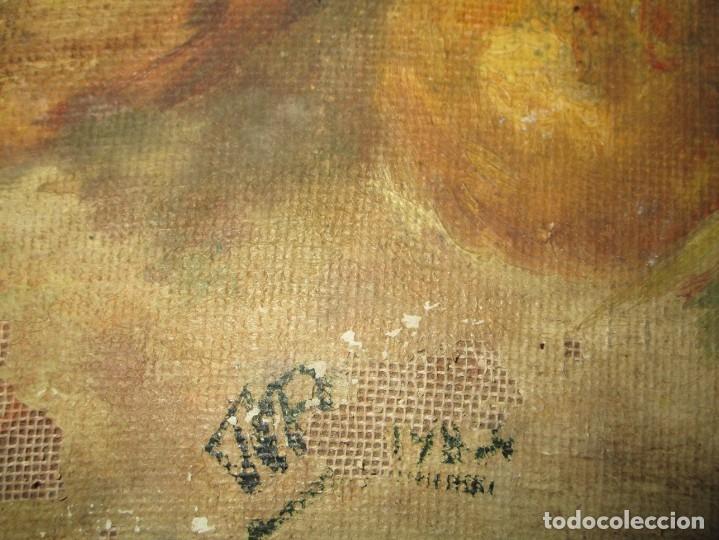Arte: ANTIGUA PINTURA OLEO TABLA BODEGON FIRMADO ILEGIBLE - Foto 7 - 136244914