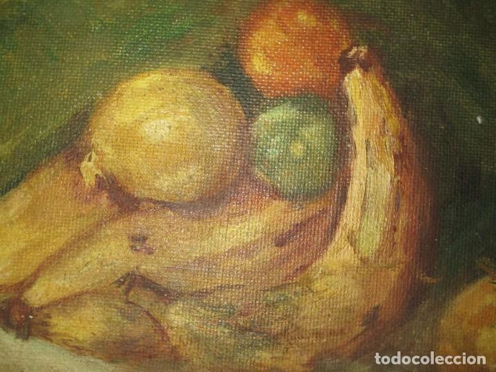 Arte: ANTIGUA PINTURA OLEO TABLA BODEGON FIRMADO ILEGIBLE - Foto 8 - 136244914