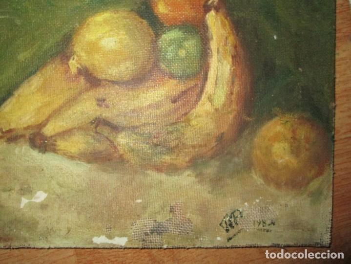 Arte: ANTIGUA PINTURA OLEO TABLA BODEGON FIRMADO ILEGIBLE - Foto 2 - 136244914