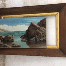 Arte: OLEO SOBRE LIENZO VISTA COSTERA MARINA FIRMA S. CARBONELL CON MARCO 96,5X146CMS. Lote 136269614