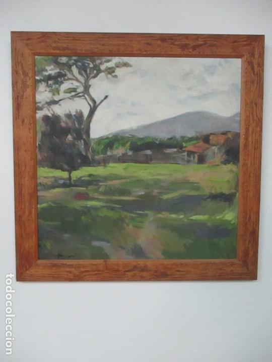 CUADRO - PINTURA AL ÓLEO SOBRE TELA - PAISAJE - CON MARCO - S. XX (Arte - Pintura - Pintura al Óleo Moderna sin fecha definida)