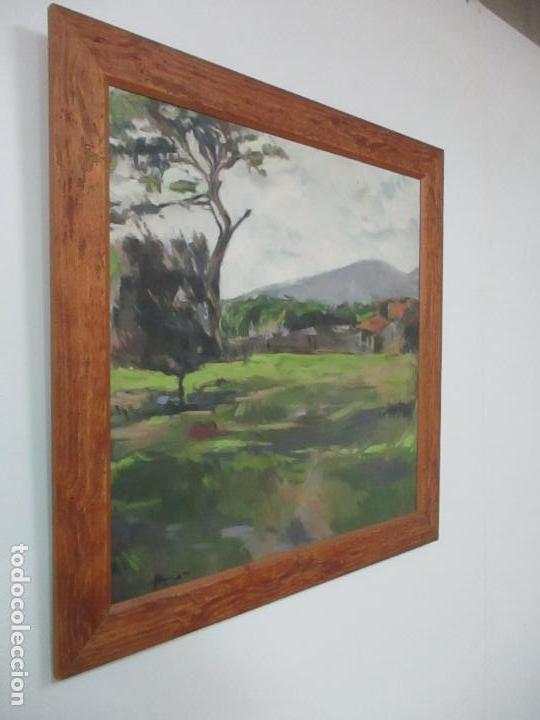 Arte: Cuadro - Pintura al Óleo sobre Tela - Paisaje - con Marco - S. XX - Foto 2 - 136345074