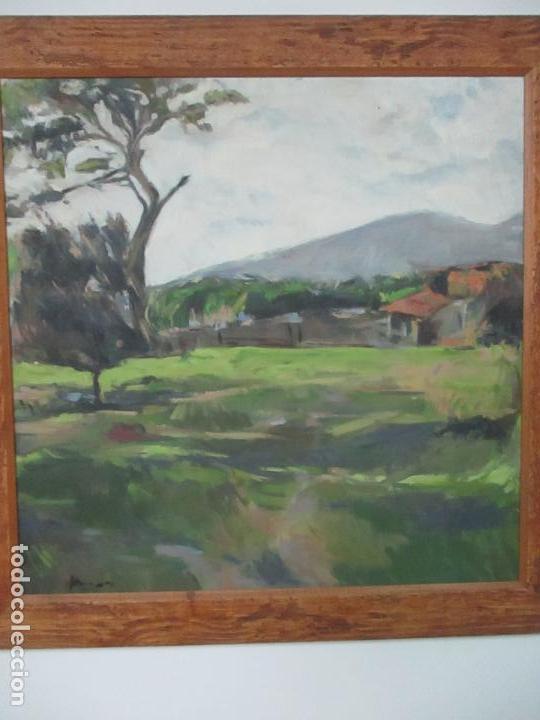 Arte: Cuadro - Pintura al Óleo sobre Tela - Paisaje - con Marco - S. XX - Foto 3 - 136345074