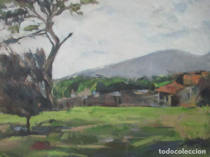 Arte: Cuadro - Pintura al Óleo sobre Tela - Paisaje - con Marco - S. XX - Foto 4 - 136345074