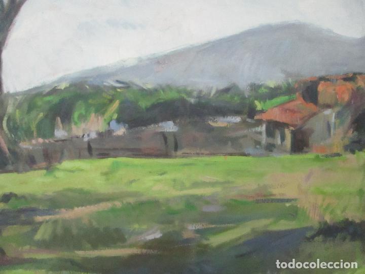 Arte: Cuadro - Pintura al Óleo sobre Tela - Paisaje - con Marco - S. XX - Foto 5 - 136345074