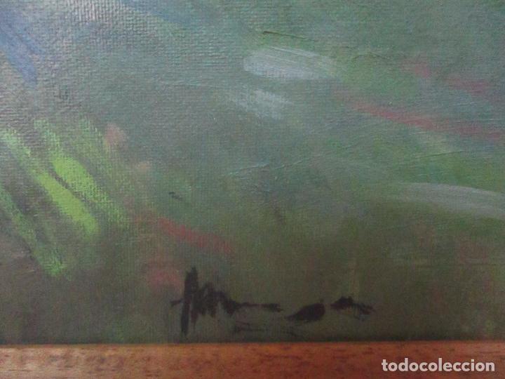 Arte: Cuadro - Pintura al Óleo sobre Tela - Paisaje - con Marco - S. XX - Foto 6 - 136345074