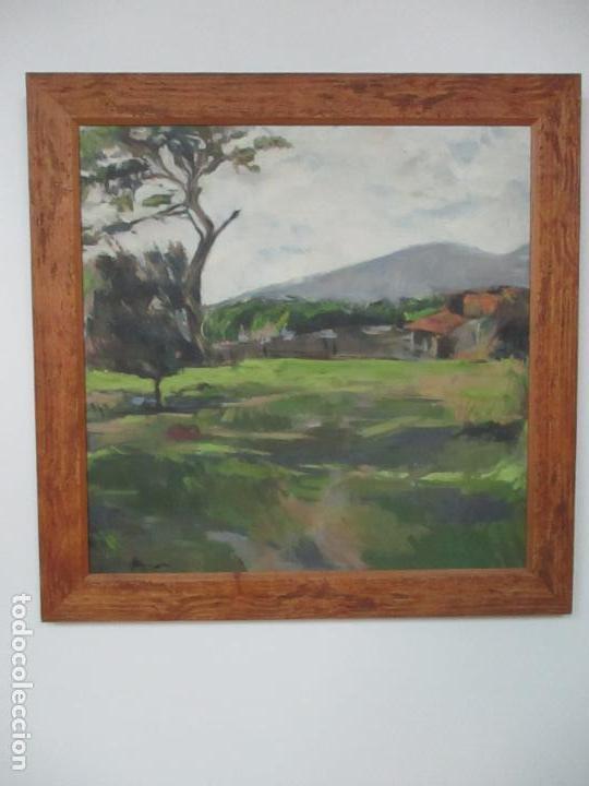 Arte: Cuadro - Pintura al Óleo sobre Tela - Paisaje - con Marco - S. XX - Foto 7 - 136345074