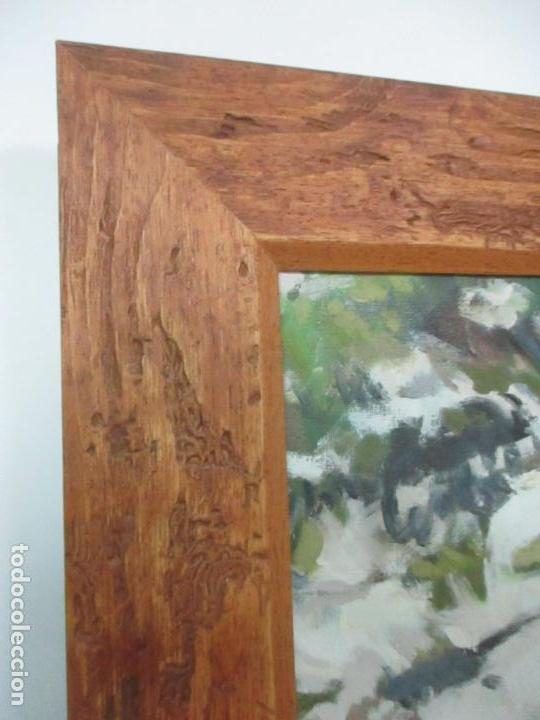 Arte: Cuadro - Pintura al Óleo sobre Tela - Paisaje - con Marco - S. XX - Foto 8 - 136345074