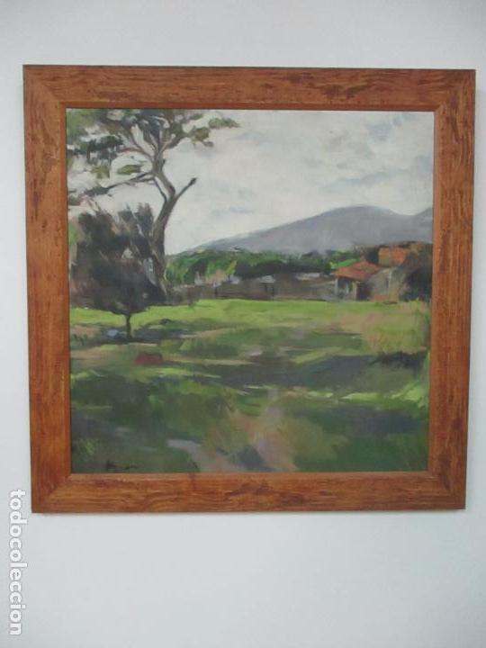 Arte: Cuadro - Pintura al Óleo sobre Tela - Paisaje - con Marco - S. XX - Foto 10 - 136345074