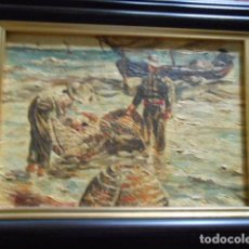 Arte: CUADRO PINTADO A MANO SOBRE TABLA EN 1970 PINTOR VALENCIANO S. LOPEZ JORDA. Lote 136349382