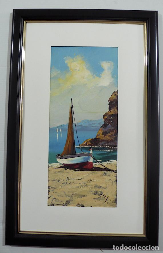 OLEO SOBRE TABLA MARINA (Arte - Pintura - Pintura al Óleo Moderna sin fecha definida)