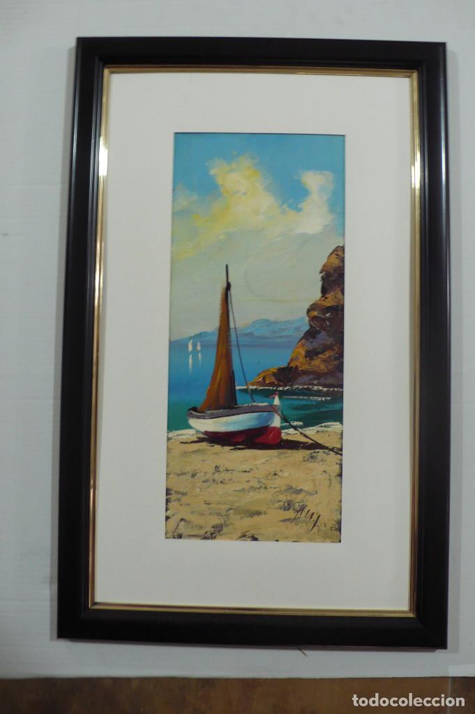 Arte: OLEO SOBRE TABLA MARINA - Foto 4 - 136384146