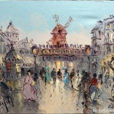 Arte: ANDRÉS GRIFELL (BARCELONA, 1935) TÍTULO:MOULIN ROUGE, PARIS. FIRMADO: GRIFELL. ÓLEO SOBRE LIENZO.. Lote 136395138