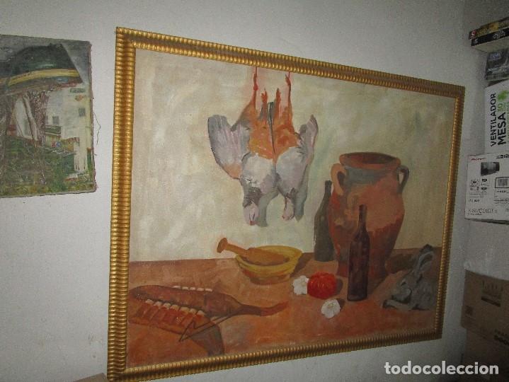 Arte: ANTIGUA PINTURA IMPRESIONISTA 160 x 120 OLEO GRANDES DIMENSION FIRMADO ILEGIBLE - Foto 8 - 98721975