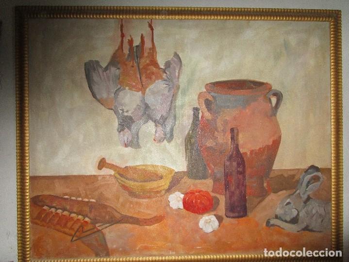 Arte: ANTIGUA PINTURA IMPRESIONISTA 160 x 120 OLEO GRANDES DIMENSION FIRMADO ILEGIBLE - Foto 10 - 98721975