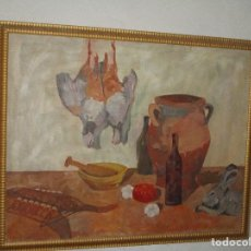 Arte: ANTIGUA PINTURA IMPRESIONISTA 160 X 120 OLEO GRANDES DIMENSION FIRMADO ILEGIBLE. Lote 98721975