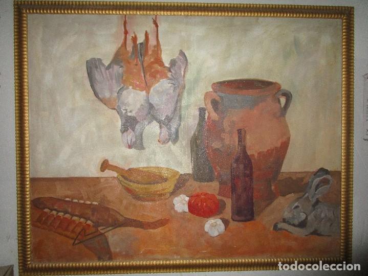Arte: ANTIGUA PINTURA IMPRESIONISTA 160 x 120 OLEO GRANDES DIMENSION FIRMADO ILEGIBLE - Foto 3 - 98721975