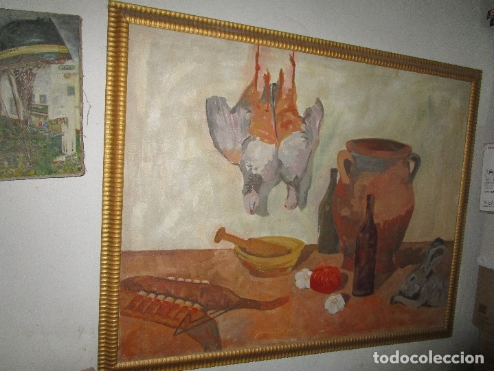 Arte: ANTIGUA PINTURA IMPRESIONISTA 160 x 120 OLEO GRANDES DIMENSION FIRMADO ILEGIBLE - Foto 2 - 98721975