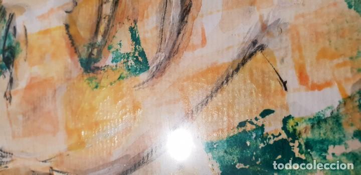 Arte: Pintura técnica mixta sobre papel pintor bobadilla - Foto 2 - 136512038