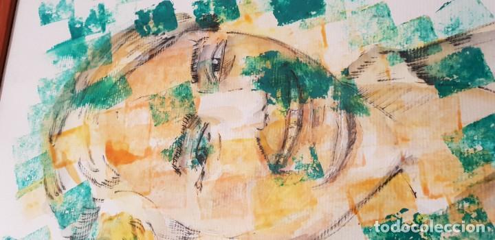 Arte: Pintura técnica mixta sobre papel pintor bobadilla - Foto 3 - 136512038