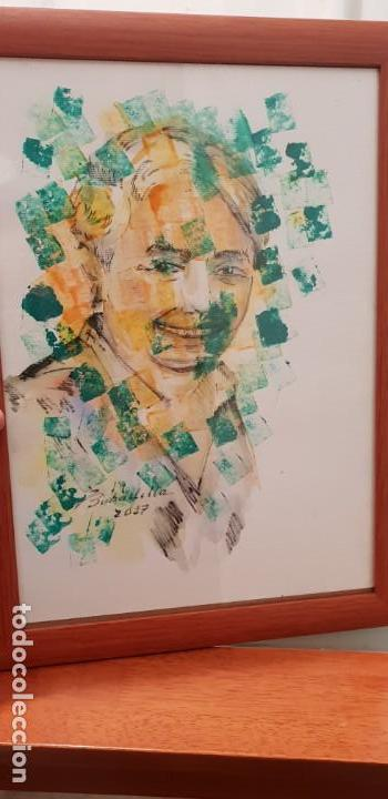 PINTURA TÉCNICA MIXTA SOBRE PAPEL PINTOR BOBADILLA (Arte - Pintura - Pintura al Óleo Contemporánea )