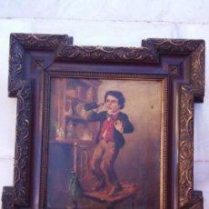 Arte: ANTIGUO ÓLEO LIENZO SIGLO XIX CON MOLDURA ORIGINAL DE LA ÉPOCA. Lote 136521698