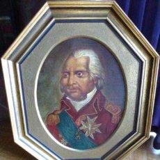 Arte: BONITO OLEO SOBRE LIENZO RETRATO DE LUIS XVIII REY DE FRANCIA (1814-1820) SIGLO XIX. Lote 136526818