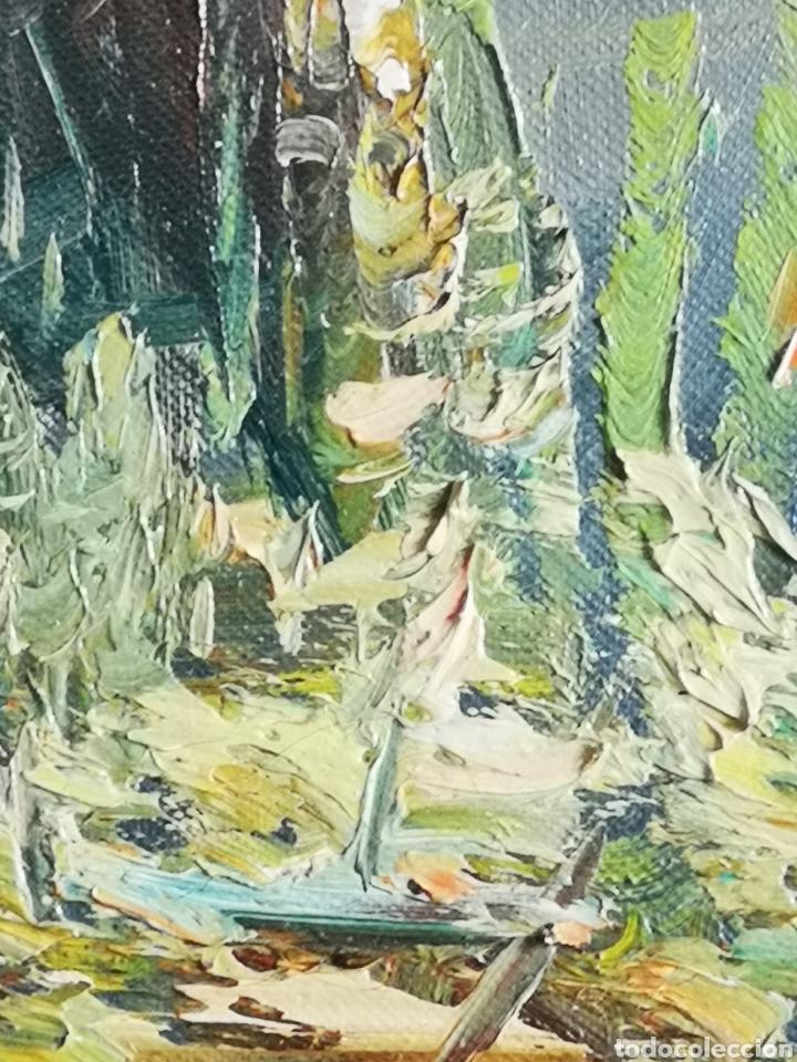 Arte: J. CANO (S.XX) , PAISAJE CON RIO, BUENA CALIDAD, FIRMADO Y ENMARCADO. TOTAL 75x85CM - Foto 3 - 136597012