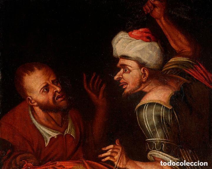 CUADRO ESCUELA HOLANDESA DEL SIGLO XVIII. ÓLEO SOBRE LIENZO. (Arte - Pintura - Pintura al Óleo Antigua siglo XVIII)