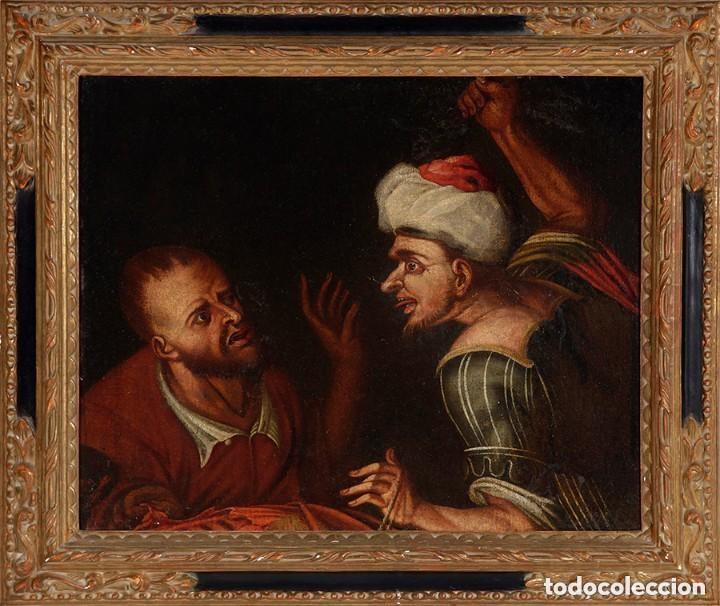 Arte: Cuadro Escuela holandesa del siglo XVIII. Óleo sobre lienzo. - Foto 2 - 136650674