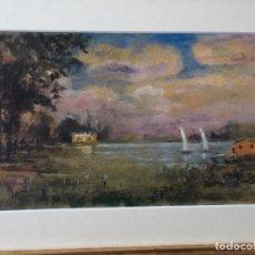 Arte: PAISAJE CON LAGO DE JOAQUIM MARSILLACH I CODONY. Lote 136669678