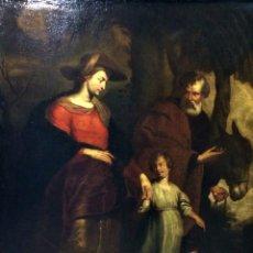 Arte: EL RETORNO DE EGIPTO. OLEO SOBRE LIENZO. COPIA DE UN ORIGINAL DE VAN DYCK. INGLATERRA(?) SIGLO XVII. Lote 136729002