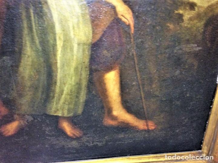 Arte: EL RETORNO DE EGIPTO. OLEO SOBRE LIENZO. COPIA DE UN ORIGINAL DE VAN DYCK. INGLATERRA(?) SIGLO XVII - Foto 5 - 136729002