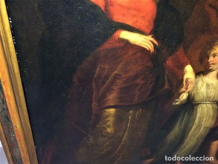 Arte: EL RETORNO DE EGIPTO. OLEO SOBRE LIENZO. COPIA DE UN ORIGINAL DE VAN DYCK. INGLATERRA(?) SIGLO XVII - Foto 7 - 136729002