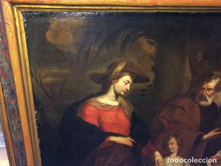 Arte: EL RETORNO DE EGIPTO. OLEO SOBRE LIENZO. COPIA DE UN ORIGINAL DE VAN DYCK. INGLATERRA(?) SIGLO XVII - Foto 8 - 136729002
