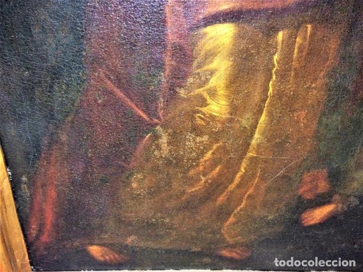 Arte: EL RETORNO DE EGIPTO. OLEO SOBRE LIENZO. COPIA DE UN ORIGINAL DE VAN DYCK. INGLATERRA(?) SIGLO XVII - Foto 9 - 136729002
