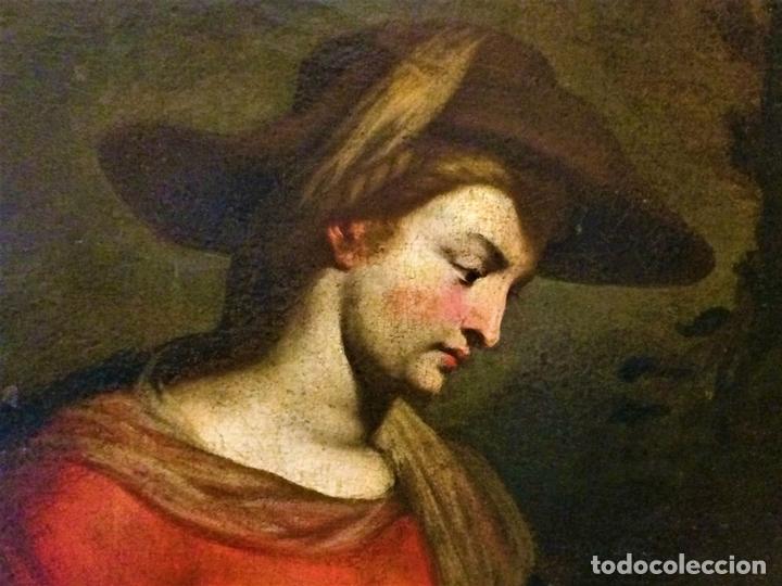 Arte: EL RETORNO DE EGIPTO. OLEO SOBRE LIENZO. COPIA DE UN ORIGINAL DE VAN DYCK. INGLATERRA(?) SIGLO XVII - Foto 11 - 136729002