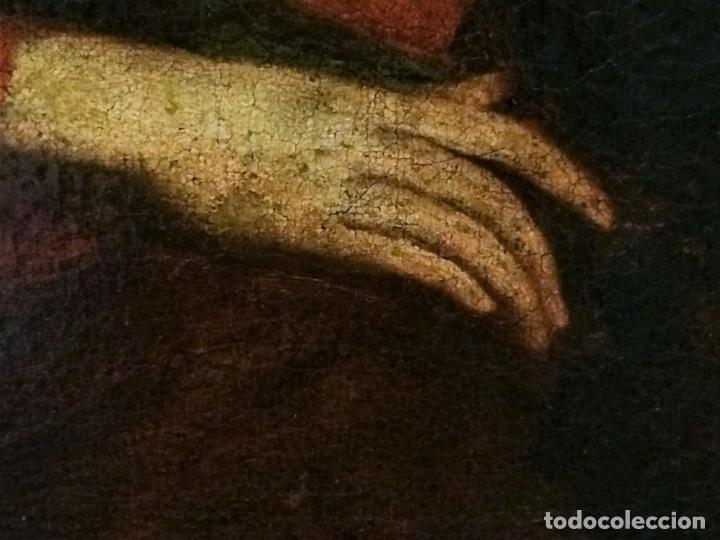 Arte: EL RETORNO DE EGIPTO. OLEO SOBRE LIENZO. COPIA DE UN ORIGINAL DE VAN DYCK. INGLATERRA(?) SIGLO XVII - Foto 14 - 136729002