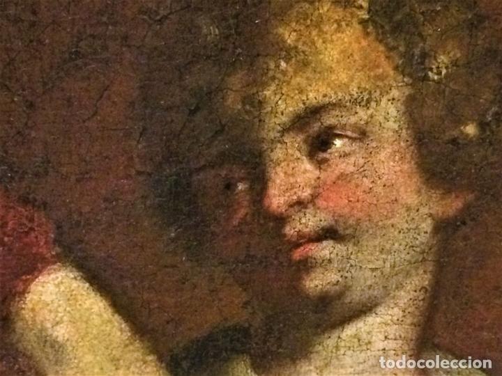 Arte: EL RETORNO DE EGIPTO. OLEO SOBRE LIENZO. COPIA DE UN ORIGINAL DE VAN DYCK. INGLATERRA(?) SIGLO XVII - Foto 15 - 136729002