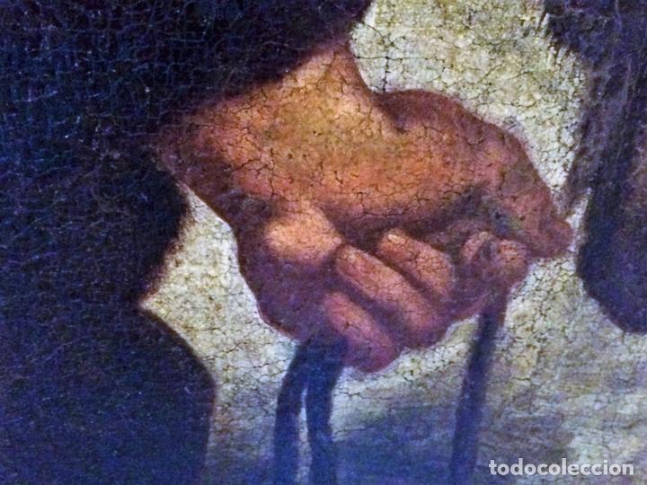 Arte: EL RETORNO DE EGIPTO. OLEO SOBRE LIENZO. COPIA DE UN ORIGINAL DE VAN DYCK. INGLATERRA(?) SIGLO XVII - Foto 17 - 136729002