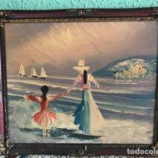 Arte: CUADRO MARCO Y ÓLEO DEL SIGLO XIX. Lote 136821598
