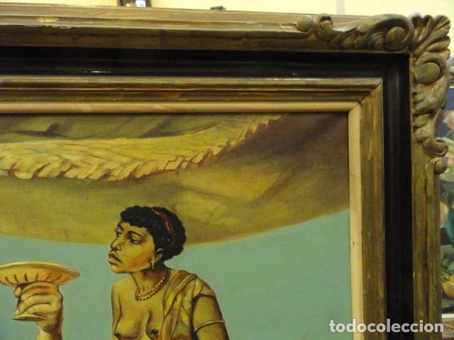 Arte: CUADRO ALEGORIA ROMANA,FIRMADO J. SABATE - Foto 14 - 136870974