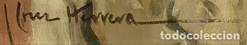 Arte: JOSÉ CRUZ HERRERA . Magnífico Óleo sobre lienzo Firmado. Gran Retrato femenino desnudo - Foto 7 - 64028379