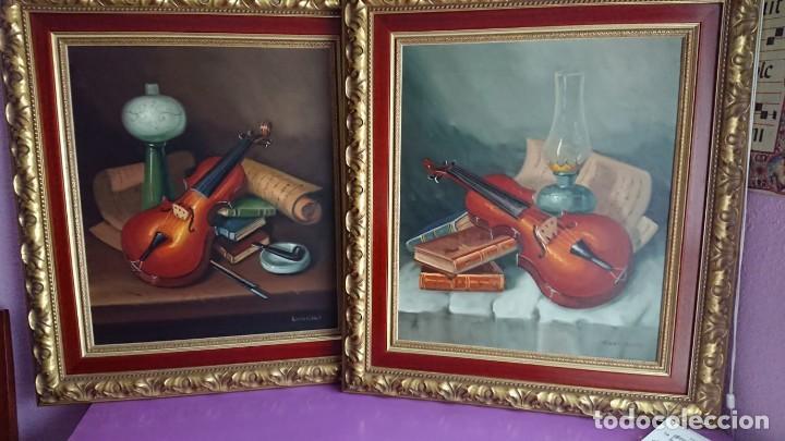 PAREJA BODEGONES ÓLEO SOBRE LIENZO RODRIGUEZ (Arte - Pintura - Pintura al Óleo Contemporánea )