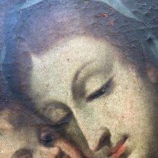 Arte: PINTURA AL ÓLEO SOBRE TELA, VIRGEN Y EL NIÑO, MADONNA, 50X60 CM, ESCUELA BARROCA. Lote 137123110