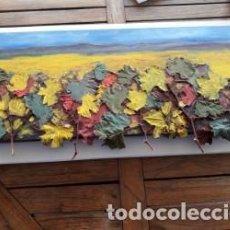 Arte: PINTURA COLLAGE, LA CAIDA DE LA HOJA.. Lote 137166226