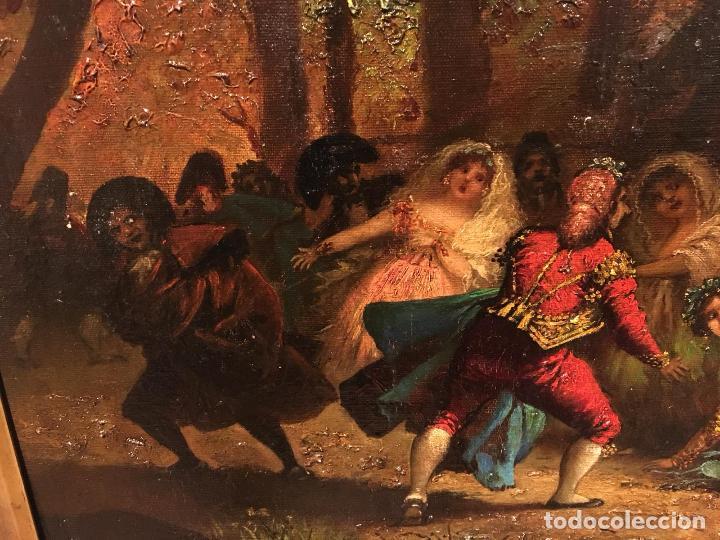 Arte: Antiguo oleo de escena taurina. A expertizar, del Discipulo de Goya Eugenio Lucas Villaamil. - Foto 3 - 137186150