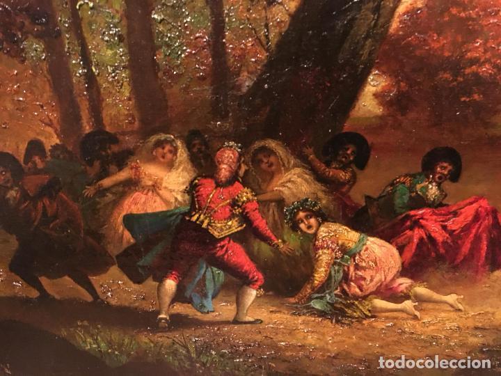 Arte: Antiguo oleo de escena taurina. A expertizar, del Discipulo de Goya Eugenio Lucas Villaamil. - Foto 4 - 137186150