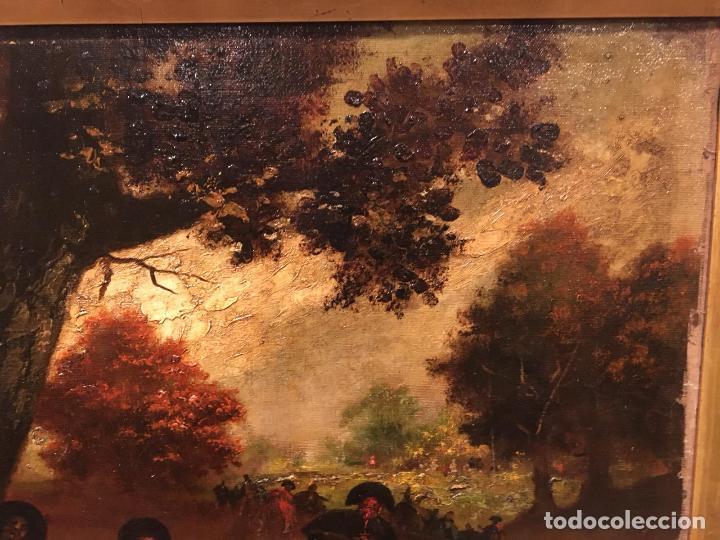 Arte: Antiguo oleo de escena taurina. A expertizar, del Discipulo de Goya Eugenio Lucas Villaamil. - Foto 5 - 137186150