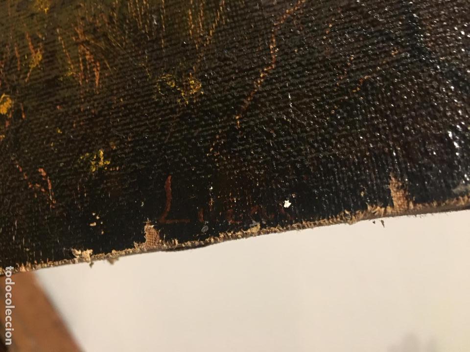 Arte: Antiguo oleo de escena taurina. A expertizar, del Discipulo de Goya Eugenio Lucas Villaamil. - Foto 10 - 137186150